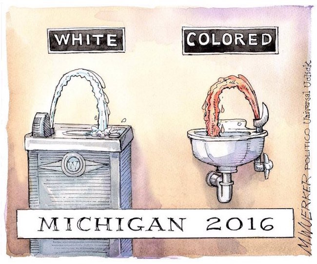 Flint-racism-water-fountain-editorial-cartoon-Wuerker-politico