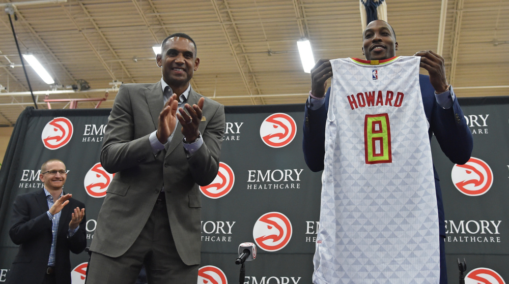 AP HAWKS HOWARD BASKETBALL S BKN USA GA